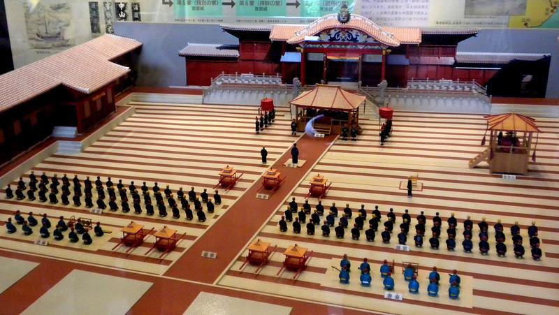 Okinawa, Japan - model of the installation of the King of Ryukyu