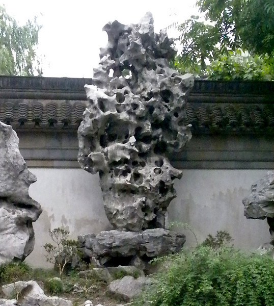 Shanghai, China - inside Yu Garden, featuring Peter's favorite Tai Lake rock