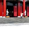 Taipei, Taiwan - Beverly entering Memorial Hall