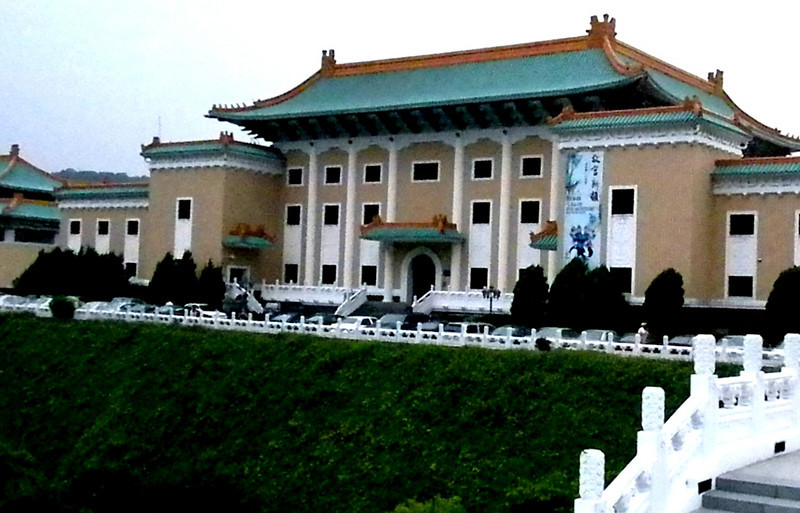 Taipei, aiwan - The main building of the National Palace Museum, which houses 200,000 plus pieces of treasure collected by Chinese emperors over thousands of years.
