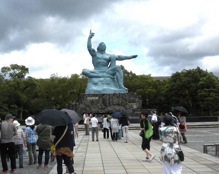 Nagasaki, Japan - the Peace Statue inside Peace Park