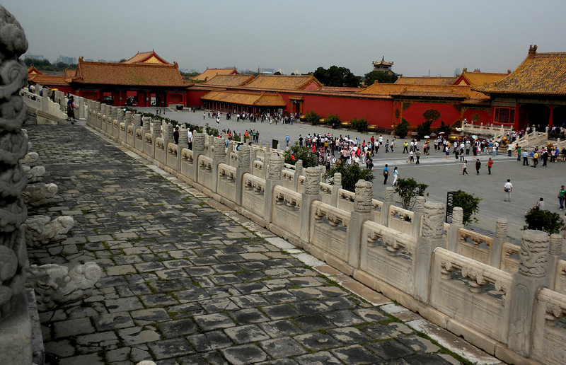 Beijing, China - a view inside the Forbidden City