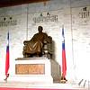 Taipei, Taiwan - statue of Chiang Kai-Sek inside the Memorial