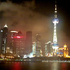 Shanghai, China - Looking at Pudong at night from our ship, which was moored on the Shanghai side of the Wampo River.