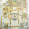 "Beijing, China - diagram of the Forbidden City.  Line in center traversing the entire length of the city is the ""Dragon Vein"" (龍胍)."