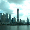 Shanghai, China - early morning of Pudong, across the Wampo River from Shanghai (where our ship was moored)