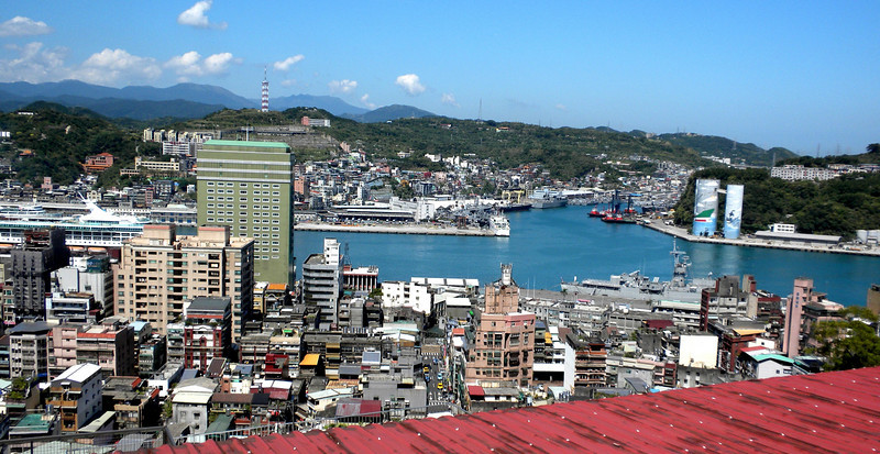 Keelung, Taiwan - Can you see our ship Legend of the Seas among the buildings?