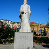 Inchon, Korea - statue of the most famous Chinese calligraher outside the Cultural Center