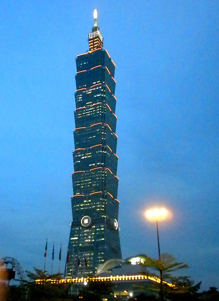 Taipei, Taiwan - 101, currently the 4th tallest building in the world