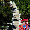 Inchon, Korea - The stairs that used to be the boundary between the Qing (Chinese) and Japanese concessions.  At the top of the stairs is a statue of Confucius, who is revered by the Chinese, Koreans, and Japanese..