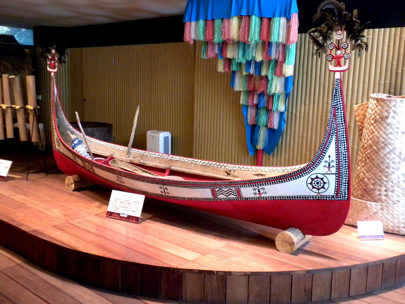 Keelung, Taiwan - a canoe inside the Indigenous Peoples Cultural Center