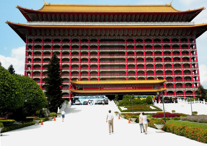 Taipei, Taiwan - The Granc Hotel where he had lunch