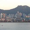 Hong Kong, China - early morning scene of the Kowloon water front
