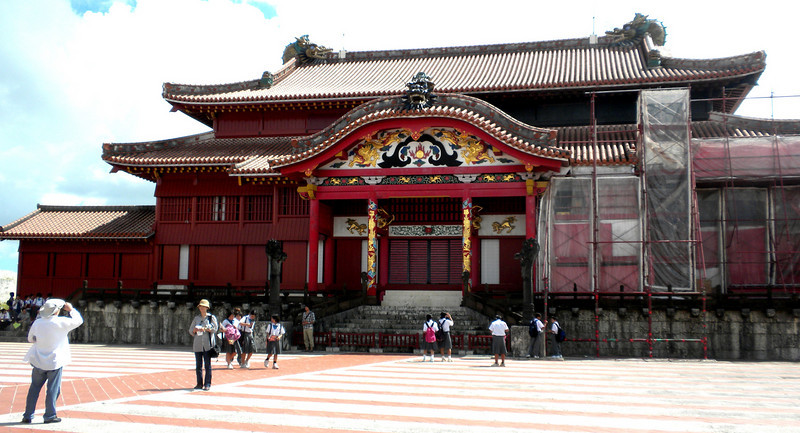 Okinawa, Japan - the main residence inside Shuri Castle