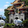 Taipei, Taiwan - a view of the Keelung Buddhist Monastery