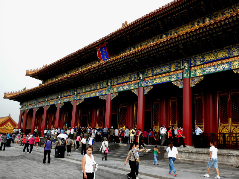 Beijing, China - one of the palaces inside the Forbidden City
