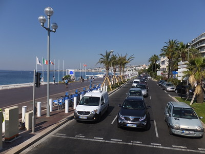 Ocean drive area of Nice where the 2016 terrorist attack killed 77 people on Bastile Day.