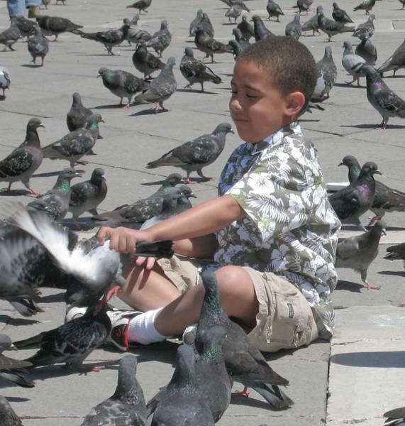 Grabbing a Snack in St. Mark's Square