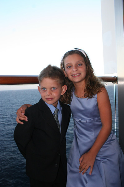 Tyler and Katie dressed to the nines for the first formal night.