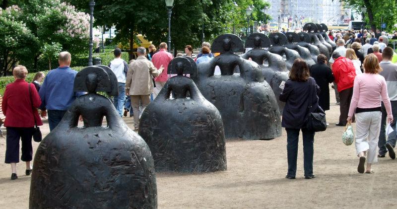scupture garden. Helsinki, Finland
