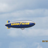 The blimp flying overhead...