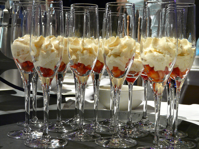 Seabourn classic: Baileys sabayon with strawberry