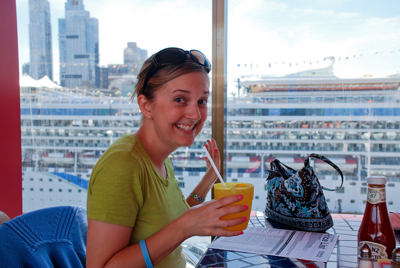 Heather's Cool Drink --<br /> Cruise Day 1, New York City