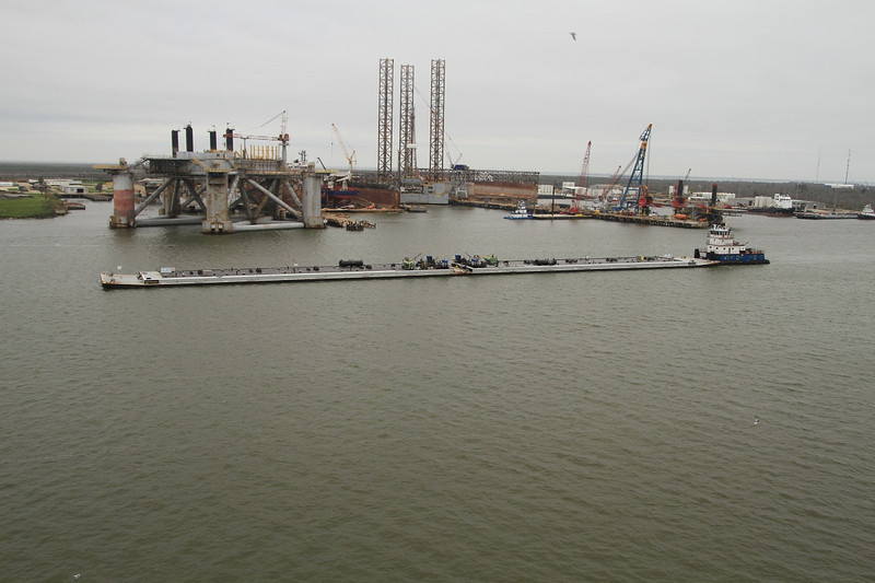 Galveston seemed to be a very active sea port with lots of oil/gas work going on. Jim
