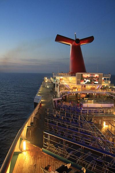 Ship at sunset. - Jim