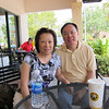 My and Stephen at breakfast in Plantation, FL, cruise day!