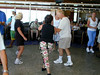 A dance class onboard the cruise ship