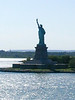 New York - the ship is leaving New York harbor, with the Statue of Liberty in the background