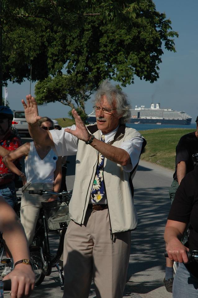 Professor Einstein, our guide in Visby