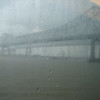 Wet day in NOLA, bridge over Mississippi.