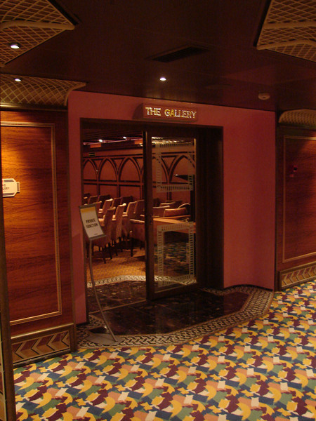 "Entrance to ""The Gallery"" on Atlantic Deck 4"