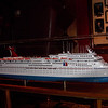 Model of ELATION sister ship IMAGINATION. Dining rooms are named after ships in Fantasy Class.