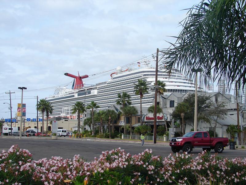 Carnival's newest ship, CARNIVAL MAGIC in her homeport of Galveston TX. November 14, 2011