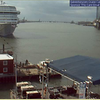 CARNIVAL MAGIC from the Cruise Cam located on the Harbor House Hotel. Canopy is being readied for the Maroon 5 concert the following day.