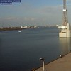"The following five frames are from galveston.com ""Harbor Cam"" ship is seen departing Galveston to open sea."