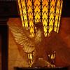 Eagle fixture near elevator