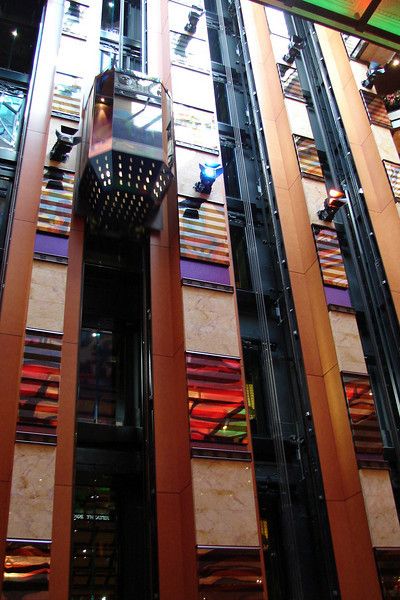 Elevators in Atrium America