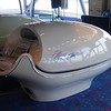 Futuristic looking spa equipment
