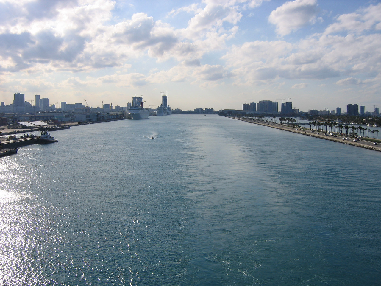 Looking back at Miami.