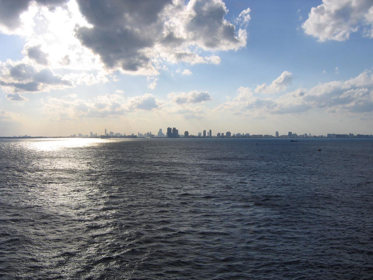Light shimmering over Miami.