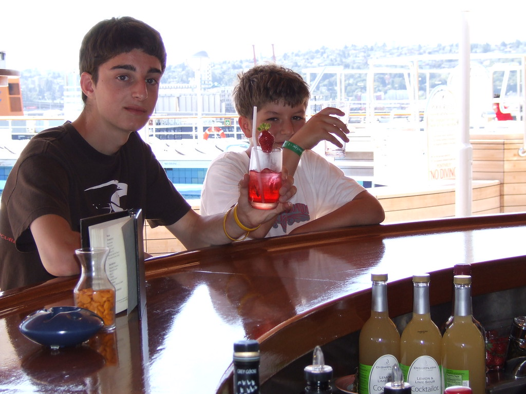Noel and Henry <br /> My brother and my son belly up to the bar on the ms Oosterdam