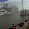 CARNIVAL MAGIC departing Galveston on a rainy Sunday in February.