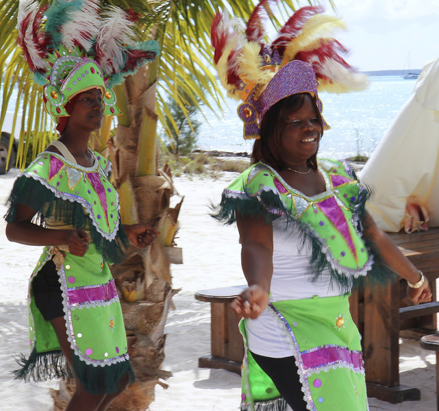 We enjoyed a taste of the island with an authentic native lunch and were entertained with Junkanoo, the Bahamian masquerade tradition, which incorporates music, costumes and dance.