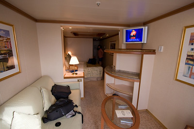 Our Suite D109 (9th level) aboard Emerald Princess Caribbean Cruise