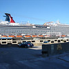 The new CARNIVAL MAGIC docked in front of MARINER OF THE SEAS in Galveston TX.