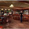 Artist rendition of a sports bar which will be on the new NCL NORWEGIAN EPIC. The ship will have 18 bars and lounges. It appears that this venue will have 3 bowling lanes in addition the the 3 lanes in the Bliss Club.<br /> <br />  O'Sheehan's Neighborhood Bar & Grill